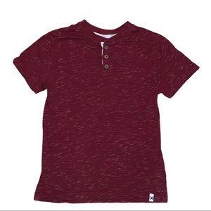2/$20 Gymboree Boys Burgundy Tee Shirt M 7-8